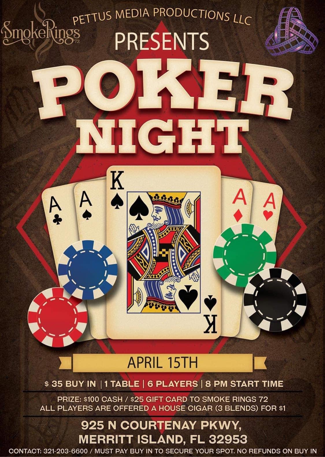 Poker Night- April 15th