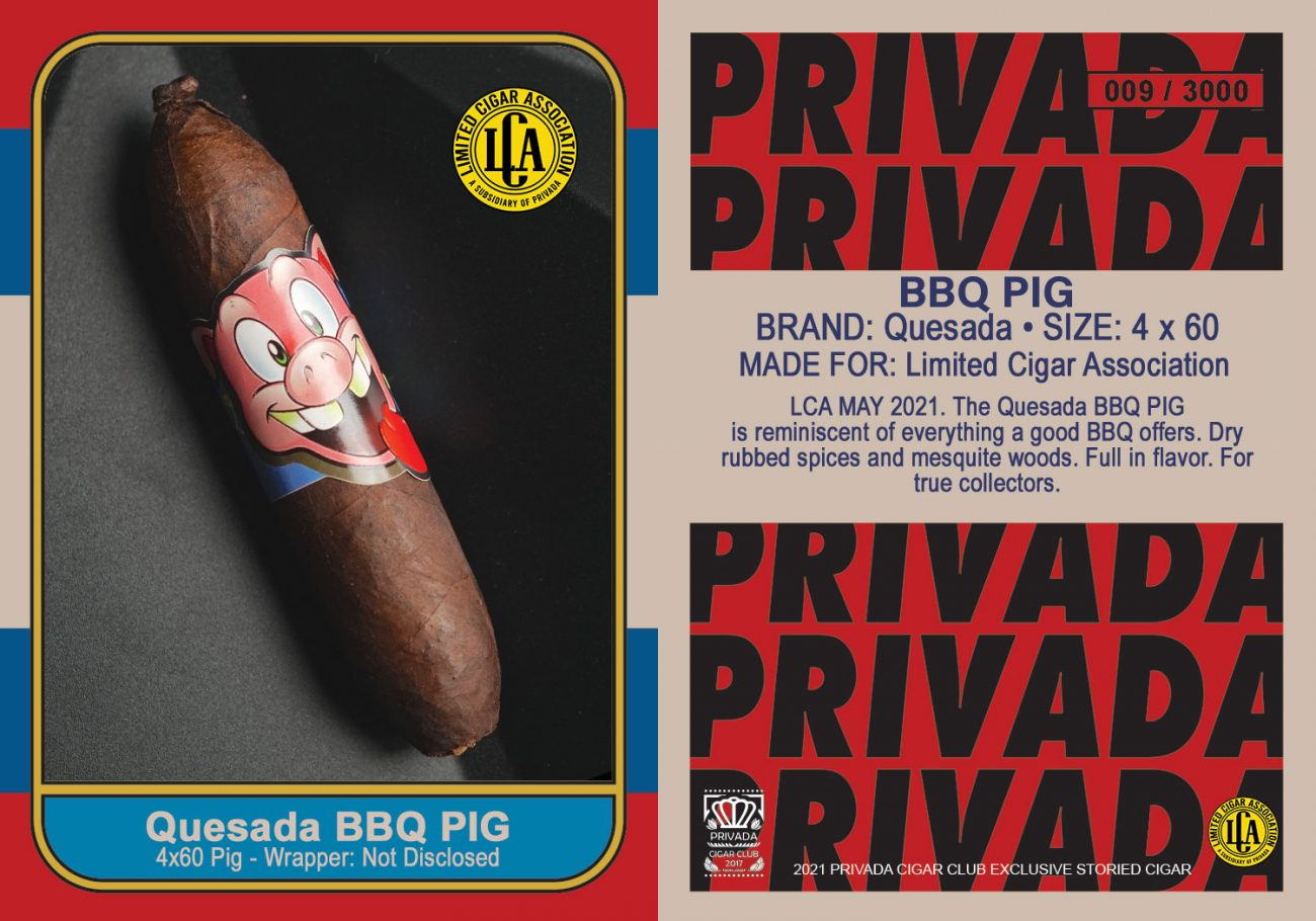 May LCA Release- BBQ Pig by Quesada LCA Exclusive
